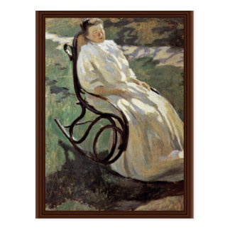 Lady In The Rocking Chair By Borissow-Mussatow Wik Postcards