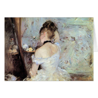 Lady in the Toilet by Berthe Morisot Card