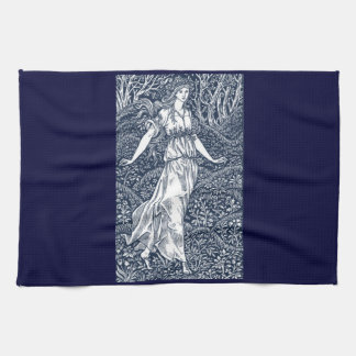 lady in the Woods Tea Towel