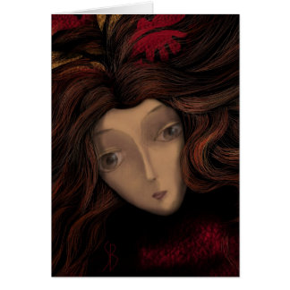 Lady in Wait Greeting Cards