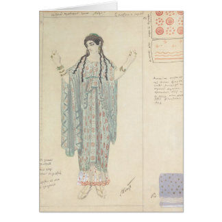 Lady-in-waiting costume design for Hippolytus Greeting Card