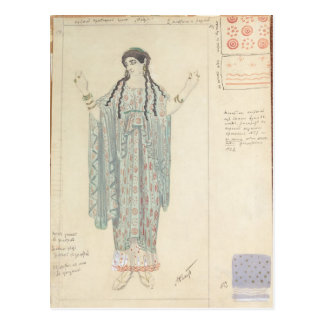 Lady-in-waiting costume design for Hippolytus Postcard
