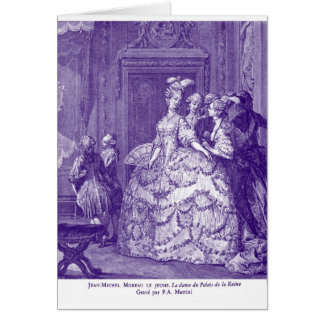 Lady in Waiting to Marie Antoinette Greeting Card