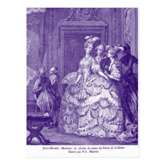 Lady in Waiting to Marie Antoinette Postcard