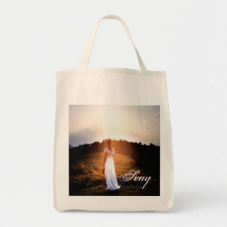 Lady In White Tote Bags
