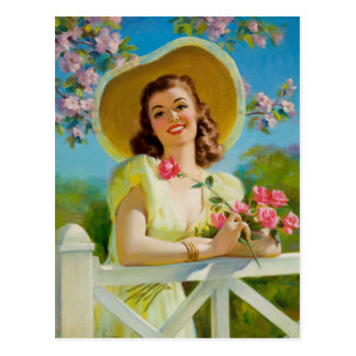 Lady in Yellow Postcard