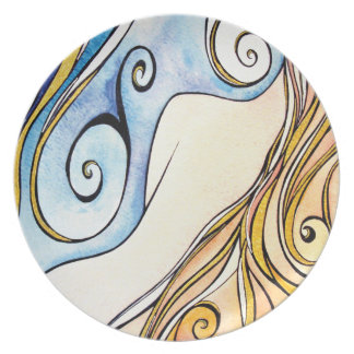Lady Ireland Melamine Plate