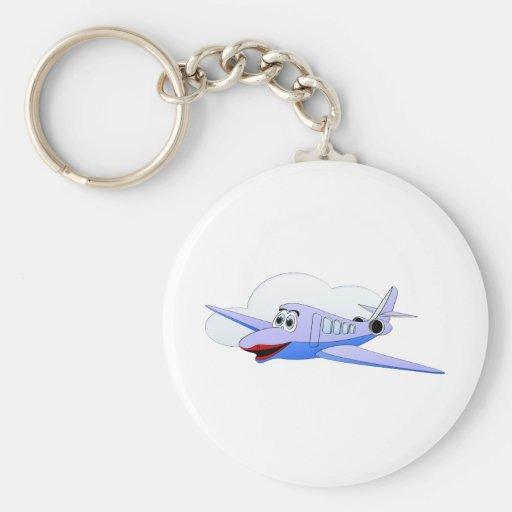 Lady Jet Cartoon Basic Round Button Key Ring