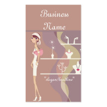 Lady Jewellery Shopping Design 2 Business Cards