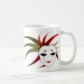 Lady Joker Mask Illustration Mug