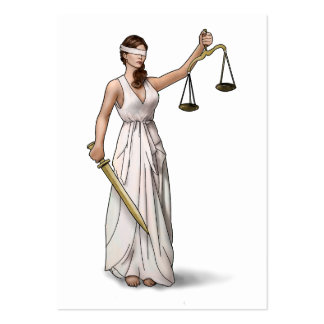 Lady Justice Illustration Pack Of Chubby Business Cards