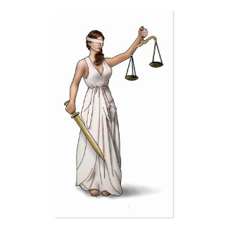 Lady Justice Illustration Pack Of Standard Business Cards