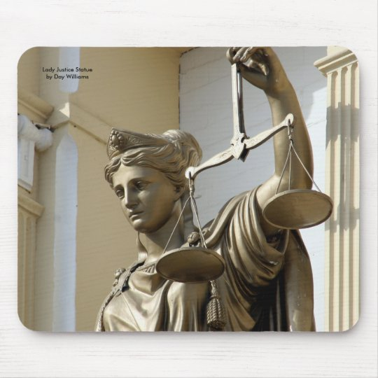 Lady Justice Statue, Virginia City, Nevada Mouse Pad