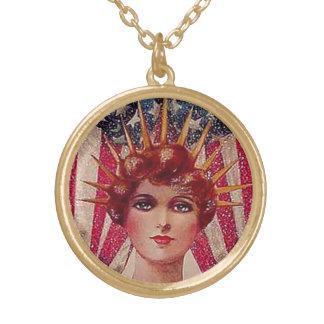 Lady Liberty 4th of July Vintage Art Jewelry Charm