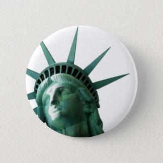 Lady Liberty 6 Cm Round Badge