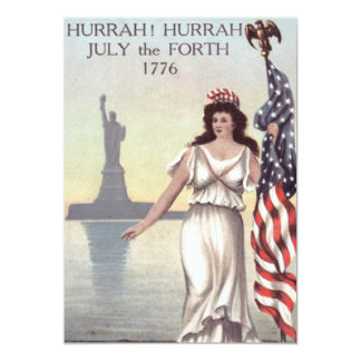 Lady Liberty American Flag Statue of Liberty 13 Cm X 18 Cm Invitation Card
