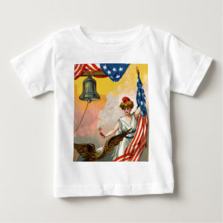 Lady Liberty and American Flag Baby T-Shirt
