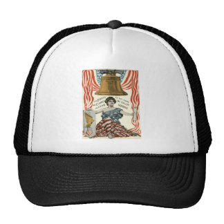 Lady Liberty Bell US Flag 4th of July Trucker Hat