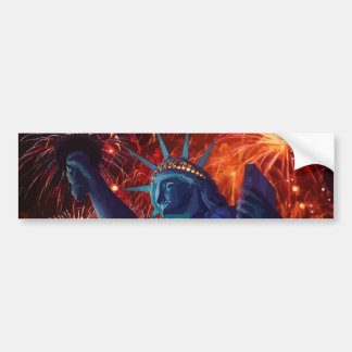 Lady Liberty Bumper Sticker
