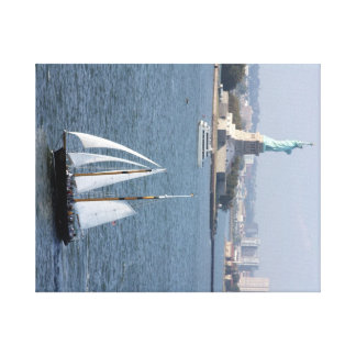 Lady Liberty Stretched Canvas Print
