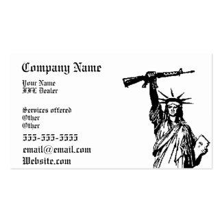 Lady Liberty FFL dealer business card 3