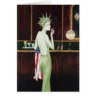 Lady Liberty Greeting Card
