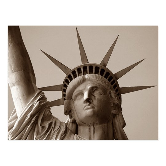 Lady Liberty in Sepia Statue Of Liberty NYC