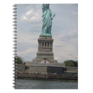 Lady Liberty in the Harbor Spiral Notebooks