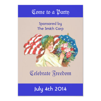 lady liberty invitation invitations