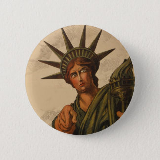 Lady Liberty Is Pointing at You 6 Cm Round Badge
