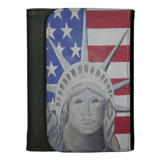 Lady Liberty Leather Wallet For Women