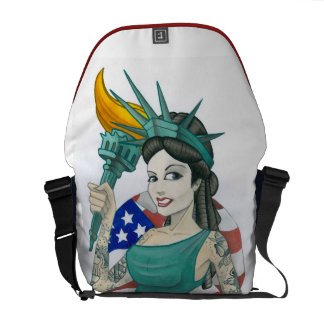 """Lady Liberty"" Messenger Bags"