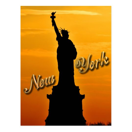 Lady Liberty, New York City, NY USA Postcard