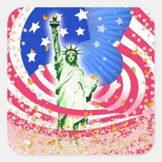 Lady Liberty, New York Square Sticker
