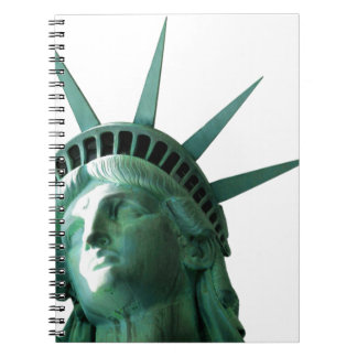 Lady Liberty Spiral Note Book
