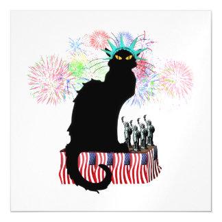 Lady Liberty - Patriotic Le Chat Noir Magnetic Invitations
