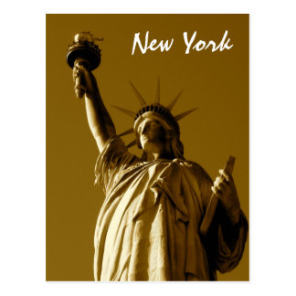 Lady Liberty (sepia) Postcard