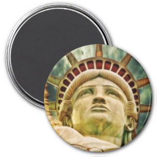 Lady Liberty, Statue of Liberty 7.5 Cm Round Magnet