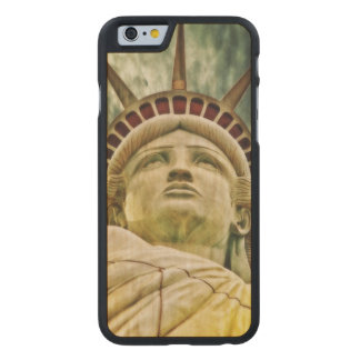 Lady Liberty, Statue of Liberty Carved Maple iPhone 6 Case