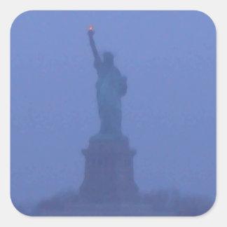 Lady Liberty Statue of Liberty USA America July 4 Square Sticker