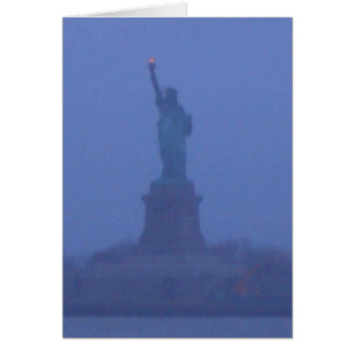 Lady Liberty The Statue of Liberty USA July 4th Greeting Card
