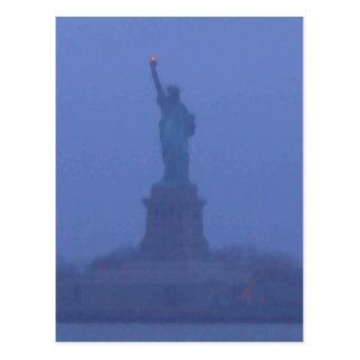 Lady Liberty The Statue of Liberty USA July 4th Postcard