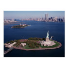 Lady Liberty & Twin Towers World Trade Centre NYC Postcard