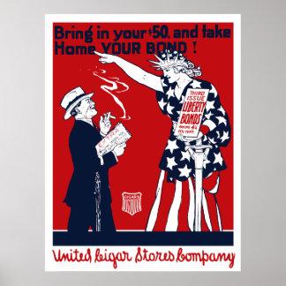 Lady Liberty War Bonds Poster