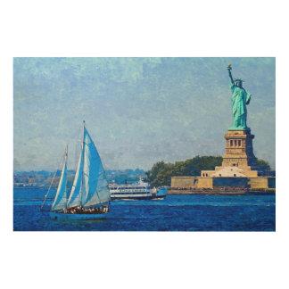 Lady Liberty Wood Prints
