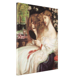 Lady Lilith by Rossetti, Vintage Victorian Portait Canvas Print