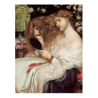 Lady Lilith by Rossetti, Vintage Victorian Portait Postcards