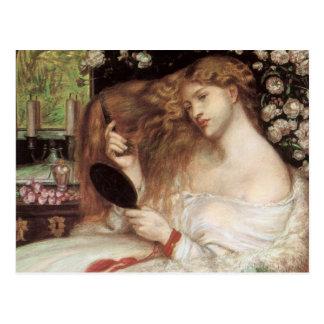 Lady Lilith Dante Gabriel Rossetti Victorian Art Postcard