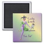 Lady Luck Harlequin Fridge Magnet