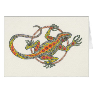 """Lady Luck"" Lizard Notecard"